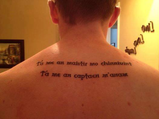 The Sad Saga Of A Bad Tattoo The Geeky Gaeilgeoir