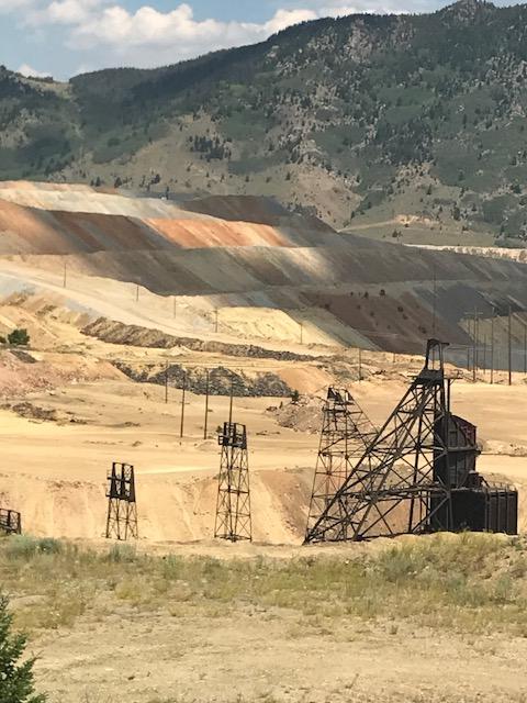 Mining head frame, Butte, Montana