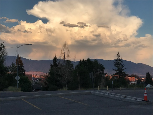 A magnificent thunderhead, seen from just outside Centennial Hall on the Montana Tech campus in Butte.